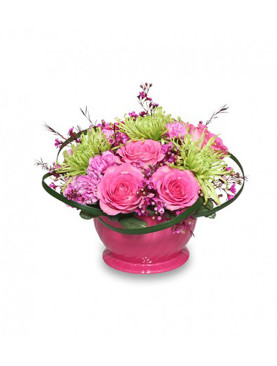 One Sided Basket of Beautiful Assorted Flowers