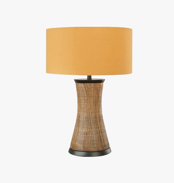 Table Lamp In Steam Beach Wood