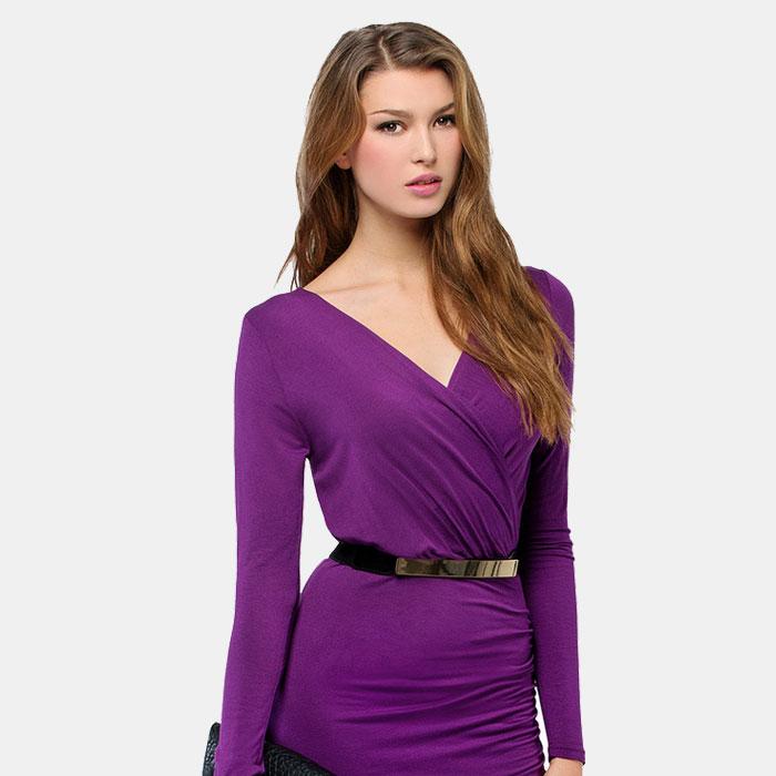 The Closet Label Women's Crepe Long Sleeve Top
