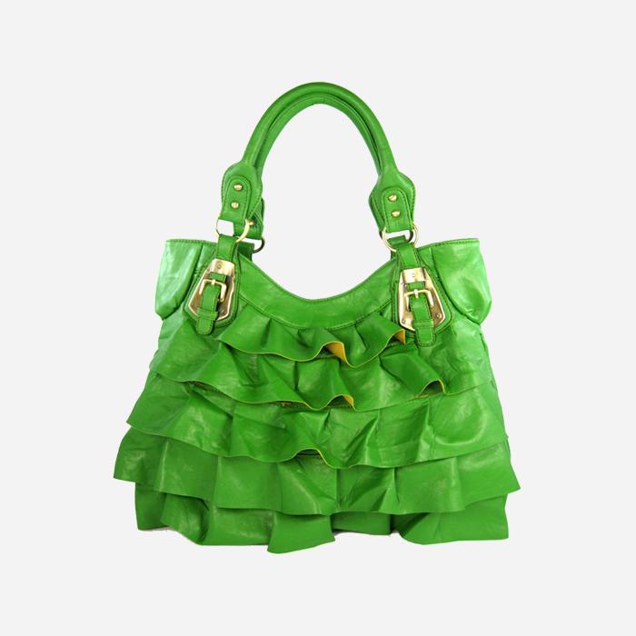 Butterflies Women's Handbag (Green)