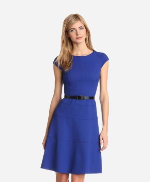 Blue Solid Maxi Dress
